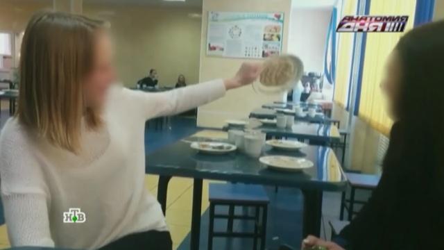 Российские ученики тайно снимают то, чем их кормят в школьных столовых.Роспотребнадзор, дети и подростки, еда, здоровье, продукты, школы.НТВ.Ru: новости, видео, программы телеканала НТВ