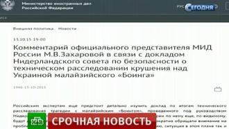 МИД России выступил за продолжение расследования катастрофы MH17