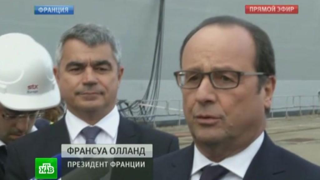 Франция рассчитывает построить для России новые корабли
