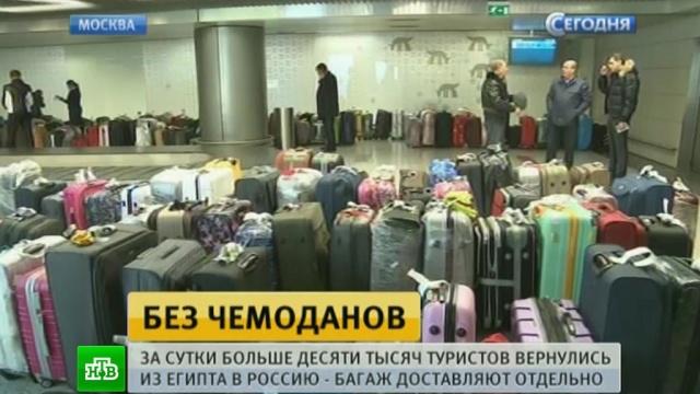 Десять тысяч россиян вернулись с египетских курортов без багажа.Египет, авиационные катастрофы и происшествия, самолеты, туризм и путешествия.НТВ.Ru: новости, видео, программы телеканала НТВ