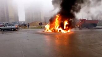 Расстрел полицейских вПетербурге. Видео сместа