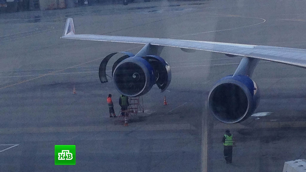 Человека засосала в турбину самолета