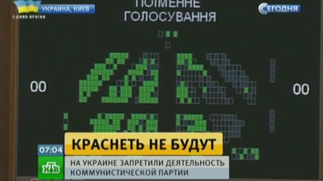 На Украине запретили коммунистическую партию.Украина, парламенты, партии, суды.НТВ.Ru: новости, видео, программы телеканала НТВ