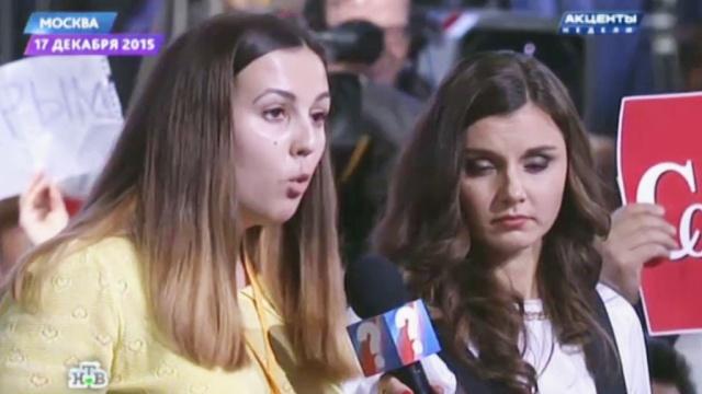 После пресс-конференции Путина на сбившего журналистку курсанта завели дело.ДТП, Калининград, Путин.НТВ.Ru: новости, видео, программы телеканала НТВ