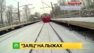 Питерский зацепер чудом уцелел после «лыжного аттракциона» на электричке