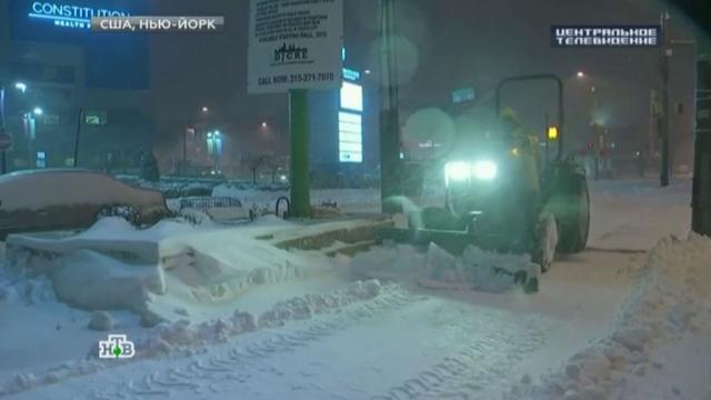 В Вашингтоне из-за мощной снежной бури закрыли метро.зима, погода, снег, США.НТВ.Ru: новости, видео, программы телеканала НТВ