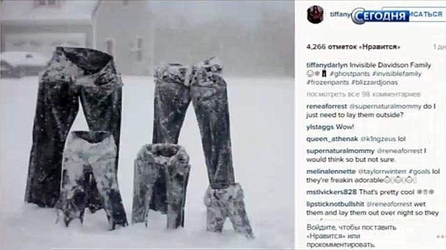 #FrozenPants: американцы после удара Снегодзиллы устроили в соцсетях флешмоб со штанами.зима, Интернет, снег, США.НТВ.Ru: новости, видео, программы телеканала НТВ