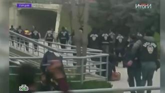 Турецкие фанаты напали на автобус сболельщиками «Локомотива»