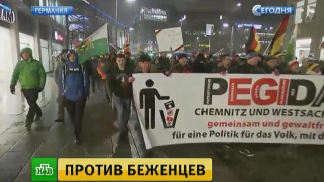 Митингующие вДрездене призвали власти остановить исламизацию Европы.Германия, Европа, Меркель, беженцы, беспорядки, митинги и протесты.НТВ.Ru: новости, видео, программы телеканала НТВ
