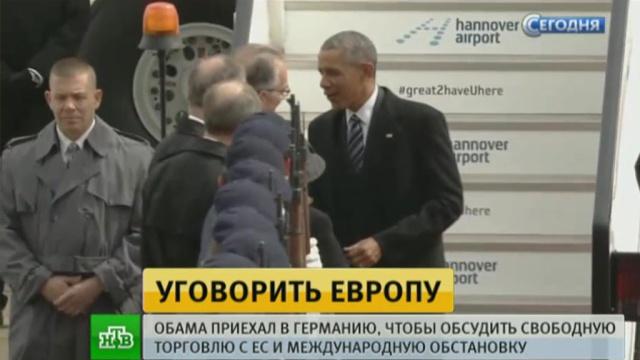 Обама встретился с Меркель в Ганновере.Германия, Меркель, Обама Барак, США, переговоры, экономика и бизнес.НТВ.Ru: новости, видео, программы телеканала НТВ