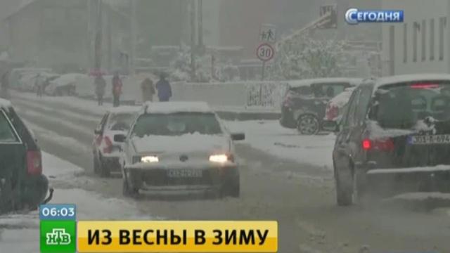 Города Боснии и Герцеговины замело снегом.Балканы, Босния, погода, погодные аномалии, снег.НТВ.Ru: новости, видео, программы телеканала НТВ