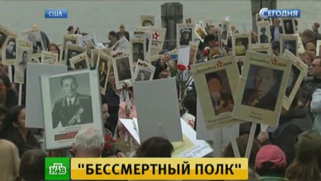 Потомки советских иамериканских ветеранов прошли водной колонне «Бессмертного полка».НТВ.Ru: новости, видео, программы телеканала НТВ