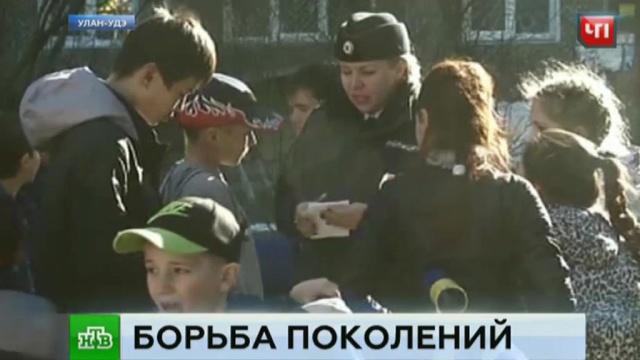 Бывшая учительница пытается выжить детей с игровой площадки.Бурятия, вандализм, дети и подростки, пенсионеры, скандалы.НТВ.Ru: новости, видео, программы телеканала НТВ
