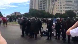 Украинцы иполяки устроили драку перед матчем вМарселе
