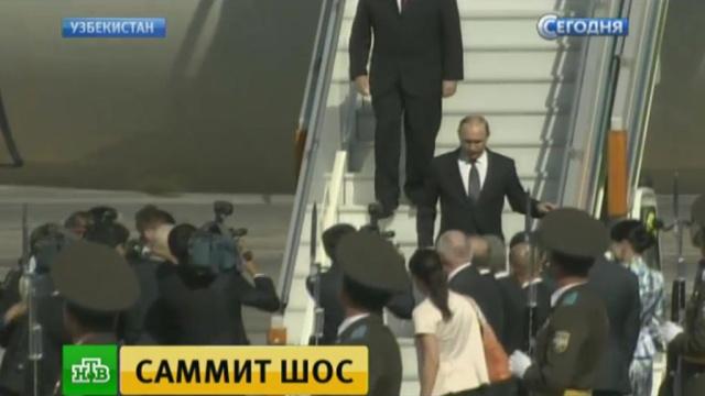 Путин прибыл в Ташкент на саммит ШОС.Индия, Китай, Монголия, Пакистан, Путин, Узбекистан, ШОС.НТВ.Ru: новости, видео, программы телеканала НТВ