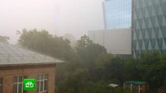 На Москву обрушился ураган сградом