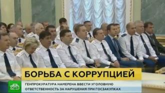 Генпрокуратура утвердила план борьбы скоррупцией вобласти госзаказа