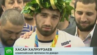 В Шереметьево устроили кавказские танцы во время встречи дзюдоистов-чемпионов