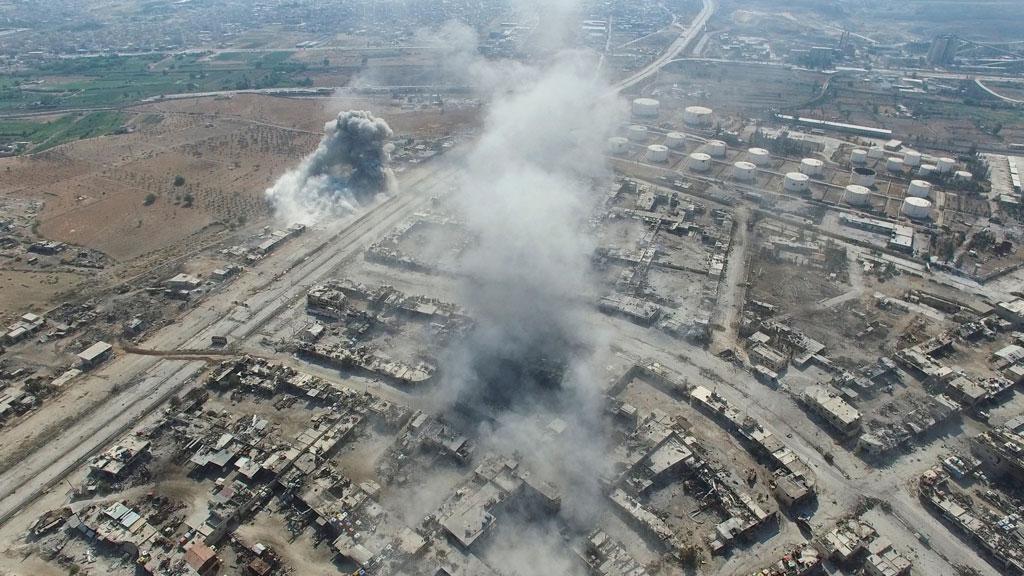 Пентагон бомбардировка ВВС США могла привести кжертвам среди мирного населения Ракки