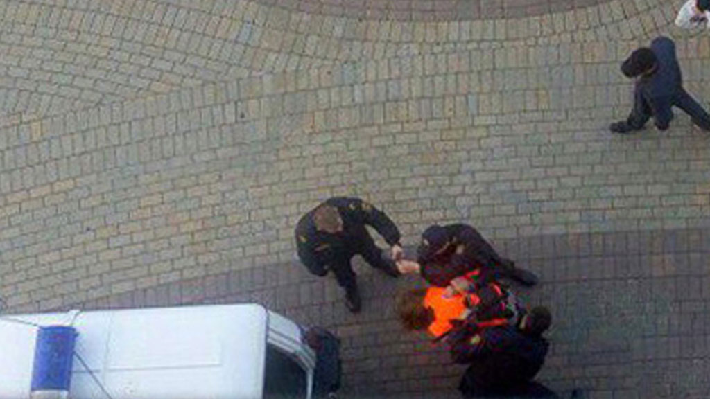 Задержание убийцы из минского ТЦ сняли очевидцы