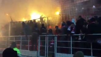 Фанаты «Спартака» иЦСКА устроили потасовку на стадионе