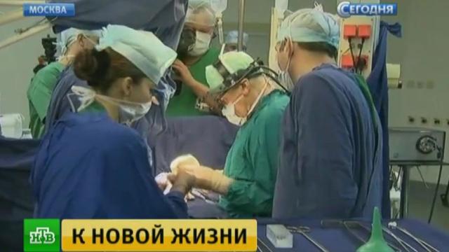 Московские медики провели уникальную операцию на сердце.Москва, больницы, здоровье, здравоохранение, медицина, технологии.НТВ.Ru: новости, видео, программы телеканала НТВ