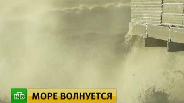 После сильного шторма вСочи объявили об опасности схода лавин.Сочи, лавина, море, штормы и ураганы.НТВ.Ru: новости, видео, программы телеканала НТВ