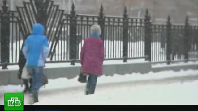 Снегопад ипорывистый ветер: вМоскве объявлено штормовое предупреждение.МЧС, Москва, зима, погода, снег.НТВ.Ru: новости, видео, программы телеканала НТВ