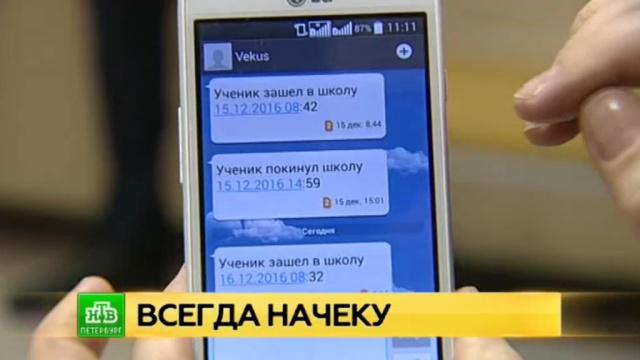 За учениками одной из школ Петербурга родители следят благодаря СМС.Санкт-Петербург, технологии, школы.НТВ.Ru: новости, видео, программы телеканала НТВ