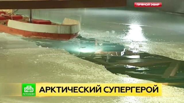 Питерские конструкторы испытывают в бассейне модель суперледокола «Лидер».Арктика, Санкт-Петербург, корабли и суда.НТВ.Ru: новости, видео, программы телеканала НТВ