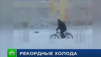 Мороженое ивелосипед: жители Сибири снимают видеоролики про аномальные морозы