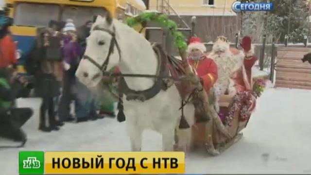 НТВ проводит большой праздник вМоскве.Дед Мороз, Москва, НТВ, Новый год, торжества и праздники.НТВ.Ru: новости, видео, программы телеканала НТВ