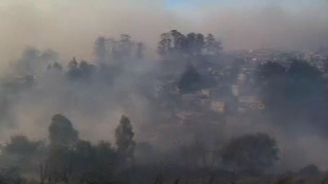 На севере Чили бушует крупный природный пожар.Чили, лесные пожары.НТВ.Ru: новости, видео, программы телеканала НТВ