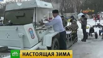 В нескольких регионах России ударили аномальные морозы