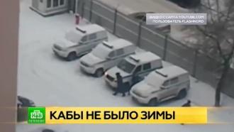 Питерские полицейские заигрались в снежки на службе