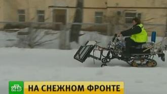 Жители Новосибирска просят Путина ввести вгород «снегоуборочные войска»