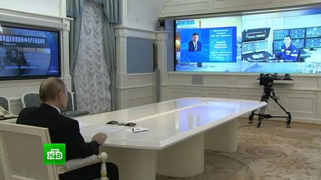 Путин дал старт работе газопровода идвух нефтепроводов вСибири.Газпром, Путин, газ, газопровод, нефтепровод, экономика и бизнес.НТВ.Ru: новости, видео, программы телеканала НТВ