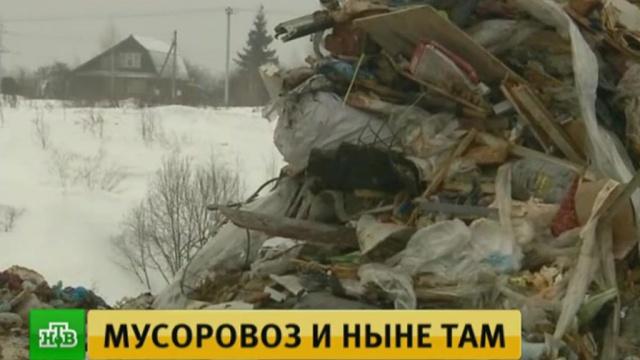 ВСолнечногорске под окнами горожан появилась гигантская мусорная свалка.Московская область, мусор.НТВ.Ru: новости, видео, программы телеканала НТВ