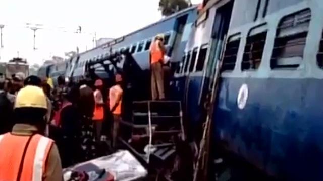 Врезультате железнодорожной катастрофы вИндии пострадали свыше 100человек.Индия, железные дороги, поезда.НТВ.Ru: новости, видео, программы телеканала НТВ