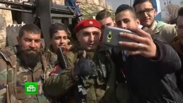 Российская военная полиция помогает жителям Алеппо наладить мирную жизнь.армия и флот РФ, войны и вооруженные конфликты, разминирование, Сирия.НТВ.Ru: новости, видео, программы телеканала НТВ