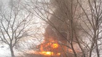 Вцентре Луганска взорвался внедорожник