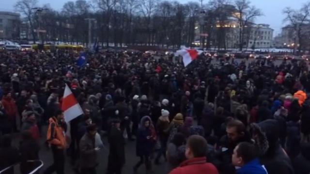 «Рассерженные белорусы» вышли на улицы Минска.Белоруссия, митинги и протесты, оппозиция.НТВ.Ru: новости, видео, программы телеканала НТВ