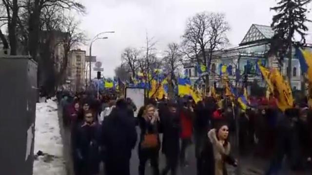 В Киеве тысячи националистов митингуют у Верховной рады.Киев, митинги и протесты, Правый сектор, Украина.НТВ.Ru: новости, видео, программы телеканала НТВ