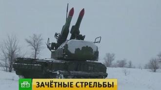 Зенитчики отработали прикрытие войск от воздушного налета противника