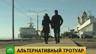 Власти Архангельска объяснили происхождение «паркетной» набережной