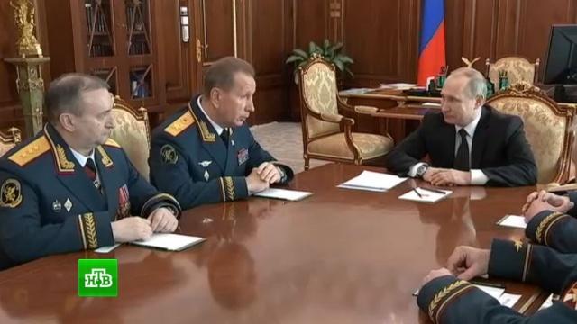 Путин вручил знамя главкому Росгвардии.Путин, Росгвардия, памятные даты.НТВ.Ru: новости, видео, программы телеканала НТВ