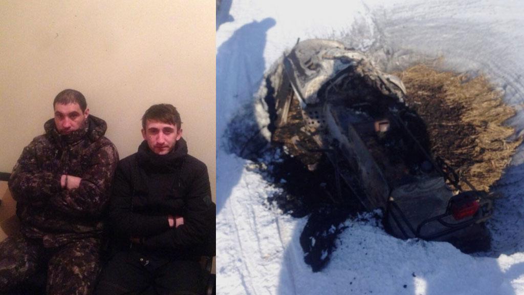 ВЮгре задержали двух братьев, ограбивших банк на снегоходе
