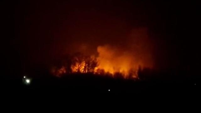 Зарево пожара на окраине Киева видно издалека.Киев, Украина, пожары.НТВ.Ru: новости, видео, программы телеканала НТВ