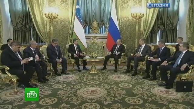 Путин и Мирзиёев отметили «удивительный» рост товарооборота между РФ и Узбекистаном.импорт, Путин, торговля, Узбекистан, экономика и бизнес, экспорт, переговоры.НТВ.Ru: новости, видео, программы телеканала НТВ
