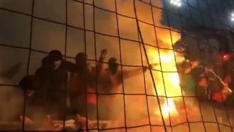 Во время матча «Спартака» и«Зенита» вМоскве задержано 50футбольных фанатов